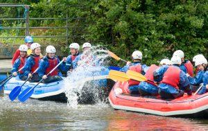 Family Rafting at Tees Barrage